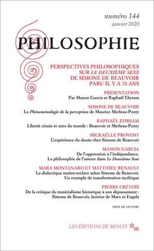 Philosophie. n° 144, Perspectives philosophique sur Le deuxième sexe de Simone de Beauvoir paru il y a 70 ans
