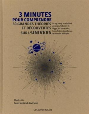 3 minutes pour comprendre 50 grandes théories et découvertes sur l'Univers : le big bang, la relativité générale, le boson de Higgs, les trous noirs, les collisions de galaxies, les mondes multiples...