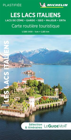 Lacs italiens, Milan : carte routière et touristique