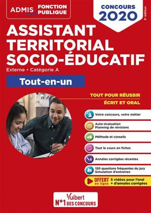 Assistant territorial socio-éducatif : externe, catégorie A, tout-en-un : concours 2020