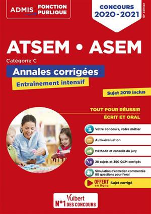 ATSEM, ASEM : annales corrigées : concours 2020-2021