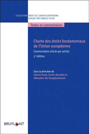 Charte des droits fondamentaux de l'Union européenne : commentaire article par article