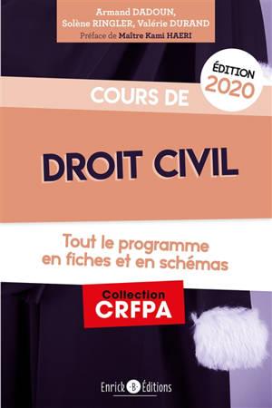 Cours de droit civil : tout le programme en fiches et en schémas