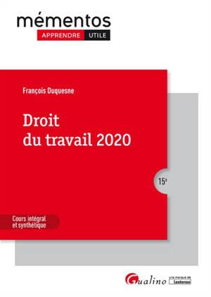 Droit du travail : 2020
