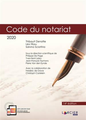Code du notariat 2020