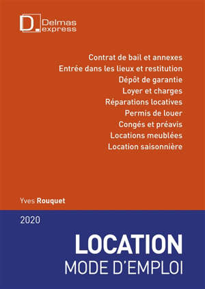 Location, mode d'emploi : 2020