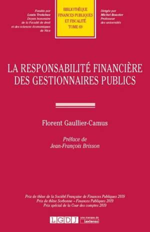 La responsabilité financière des gestionnaires publics