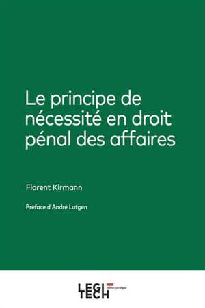 Le principe de nécessité en droit pénal des affaires