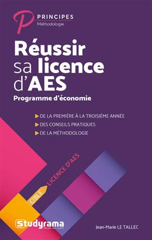 Réussir sa licence d'AES : programme d'économie