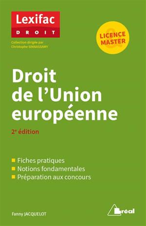 Droit de l'Union européenne : licence & master