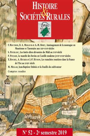 Histoire & sociétés rurales. n° 52