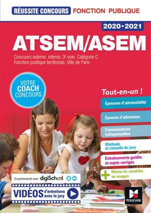 ATSEM-ASEM 2020-2021 : concours externe, interne, 3e voie, catégorie C : fonction publique territoriale, ville de Paris
