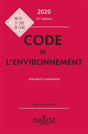 Code de l'environnement 2020