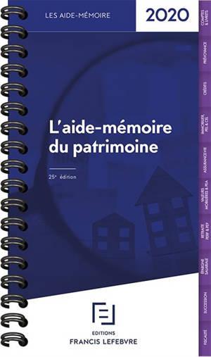 L'aide-mémoire du patrimoine : 2020