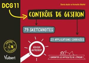 DCG 11 contrôle de gestion : 79 sketchnotes, 25 applications corrigées