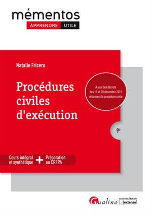 Procédures civiles d'exécution : cours intégral et synthétique + préparation au CRFPA