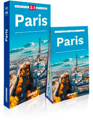 Paris : 3 en 1 : guide, atlas, carte laminée
