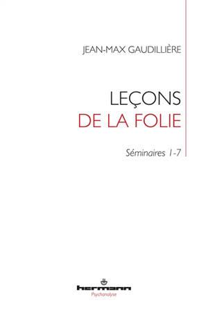 Leçons de la folie : folie et lien social : séminaires 1-7 de Jean-Max Gaudillière à l'EHESS (1985-2000)
