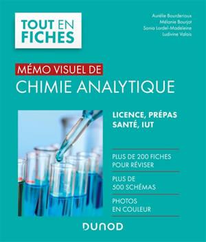 Mémo visuel de chimie analytique : licence, prépas, santé, IUT