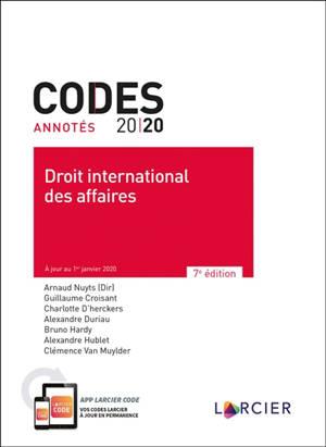 Droit international des affaires 2020