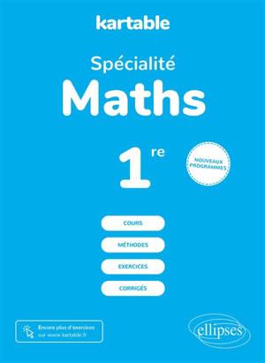 Spécialité maths première : nouveaux programmes