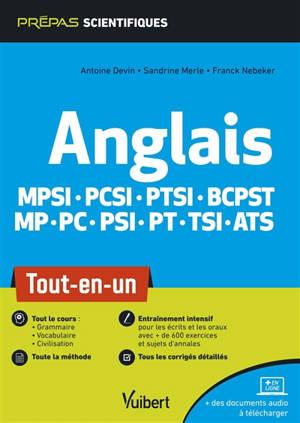 Anglais : MPSI, PCSI, PTSI, BCPST, MP, PC, PSI, PT, TSI, ATS : tout-en-un