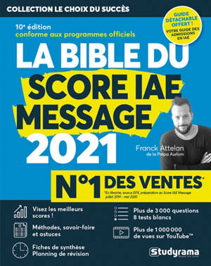 La bible du Score IAE Message : 2021