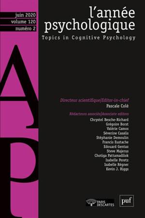 Année psychologique (L'). n° 2 (2020)