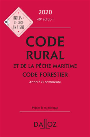 Code rural et de la pêche maritime 2020; Code forestier 2020
