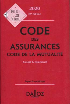 Code des assurances 2020; Code de la mutualité 2020