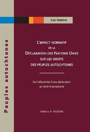 L'impact normatif de la Déclaration des Nations unies sur les droits des peuples autochtones : de l'effectivité d'une déclaration en droit international