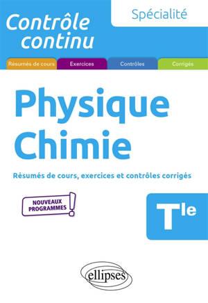 Spécialité physique chimie terminale : nouveaux programmes
