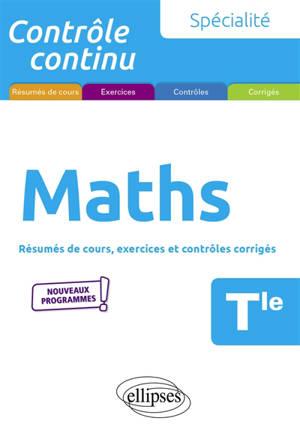 Spécialité mathématiques terminale : nouveaux programmes