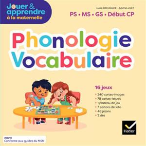 Phonologie vocabulaire : PS, MS, GS, début CP