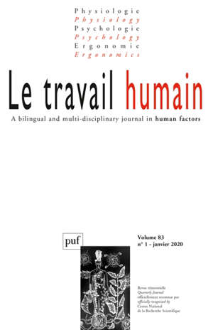 Travail humain (Le). n° 1 (2020)