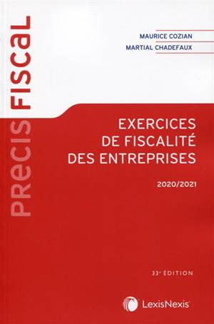 Exercices de fiscalité des entreprises : 2020-2021