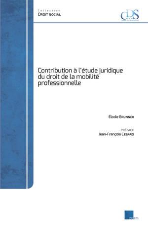 Contribution à l'étude juridique du droit de la mobilité professionnelle