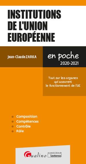 Institutions de l'Union européenne : 2020-2021