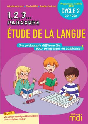 1, 2, 3... parcours, étude de la langue CE1-CE2, cycle 2 : fichier + CD-ROM : programmes modifiés 2018