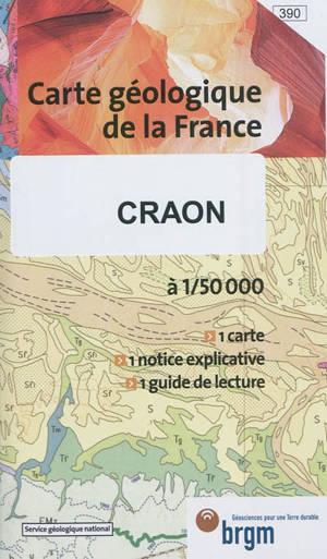 Craon : carte géologique de la France à 1:50.000