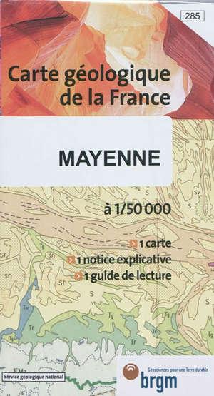 Mayenne : carte géologique de la France à 1:50.000