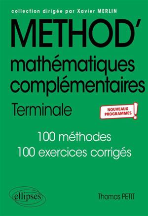 Mathématiques complémentaires terminale : nouveaux programmes