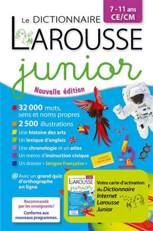 Le dictionnaire Larousse junior bimédia, 7-11 ans, CE-CM