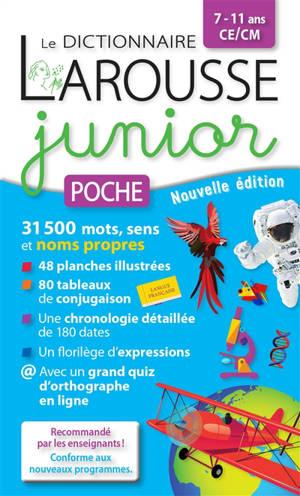 Le dictionnaire Larousse junior poche, 7-11 ans, CE-CM