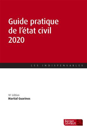 Guide pratique de l'état civil 2020