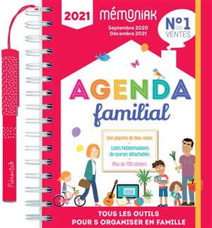 Agenda familial 2021 : septembre 2020-décembre 2021