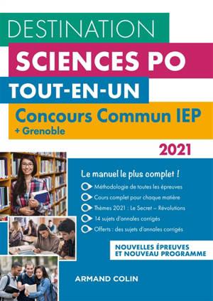 Destination Sciences Po, tout-en-un : concours commun IEP + Grenoble : nouvelles épreuves et nouveau programme 2021