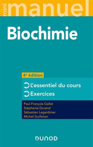 Biochimie : mini-manuel : cours + exos + QCM-QROC