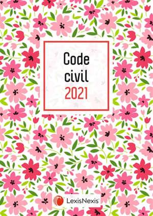 Code civil 2021 : jaquette fleurs