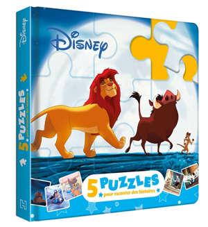 Disney classiques : mon petit livre puzzle : 5 puzzles, 9 pièces